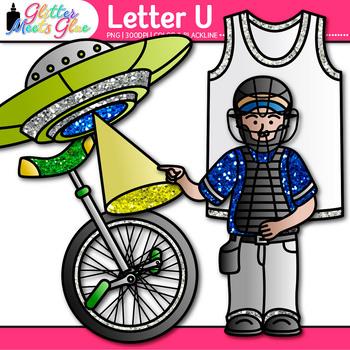 Letter U Alphabet Clip Art {Teach Phonics, Recognition, and Identification}