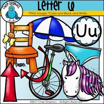 Letter U Alphabet Clip Art Set - Chirp Graphics
