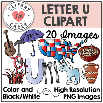Letter U Alphabet Clipart by Clipart That Cares