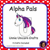 Letter U Alphabet Craft: Unnie Unicorn Alpha Pal
