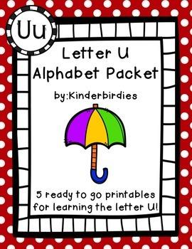 Letter U Alphabet Packet