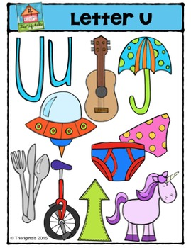 Letter U - Alphabet Pictures {P4 Clips Trioriginals Digital Clip Art}