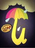 Letter U Art Templates: U is for Umbrella