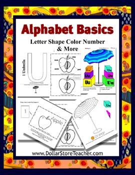 Letter U - Basic Alphabet Curriculum for Preschool and  Kindergarten
