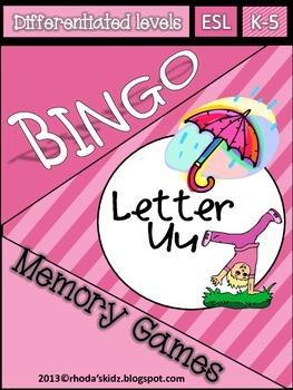 Letter U Bingo