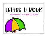 Letter U Book: Handwriting Practice