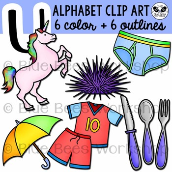 Letter U Clip Art Alphabet / Beginning Sound U