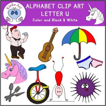 Letter U Clip Art {Beginning Sounds} Alphabet