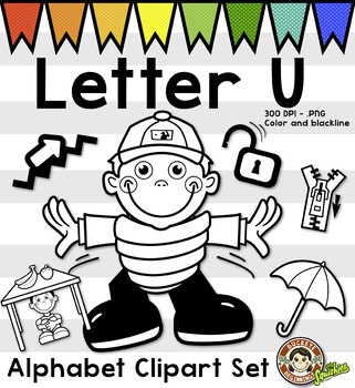 Alphabet Clip Art: Letter U Phonics Clipart Set - Clip Art