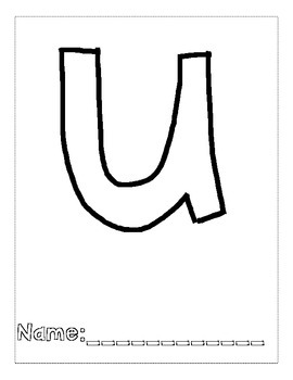 Letter U Color and Trace AlphaBook