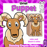 Letter U Craft Activity - Paper Bag Puppet Urial (Wild Sheep)