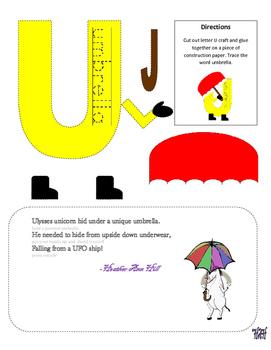 Letter U Cutout Craft