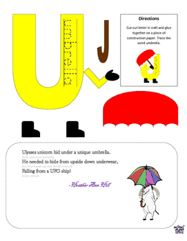 Letter U Cutout Craft