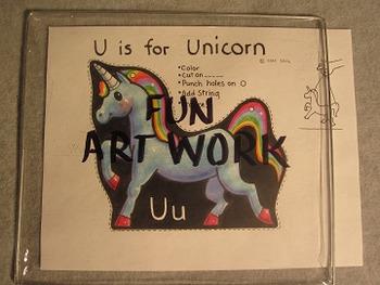 Letter U Fun Alphabet Project