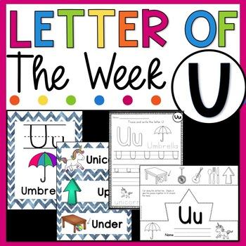 Letter U - Letter of the Week U - Letter of the Day U