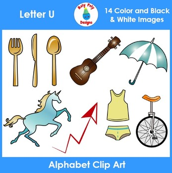 Letter U Phonics Clip Art Set