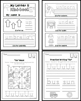Letter U Practice Printables