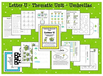 Letter U - Thematic Unit- Umbrellas