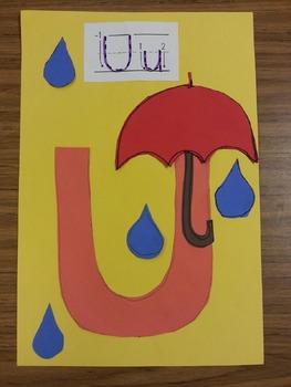 Letter U 'Umbrella' Craft