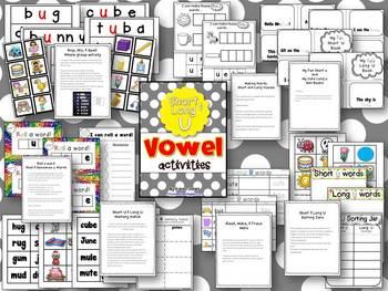 Vowel Activities for Short U and Long U