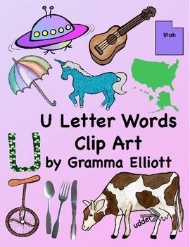 letter u words clip art 28 300 dpi png images by gramma elliott