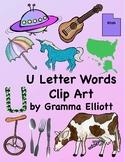 Letter U Words Clip Art - 28 300 Dpi PNG iMAGES