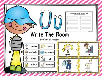 Letter U Write The Room