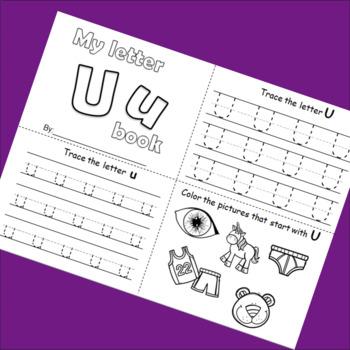 Letter U booklet
