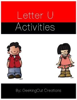 Letter U from the Alphabet Mega Bundle/Letter of the Week