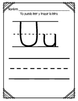 Aprendiendo la letra U