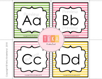 Uppercase and Lowercase Letter Cards [Teka Kinderland]