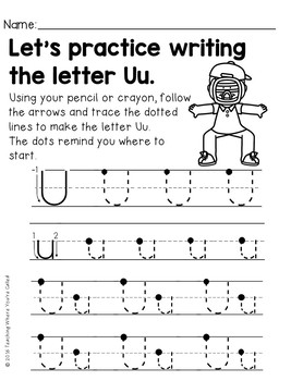 Letter Uu Activity Pack