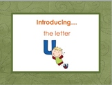 Letter Uu - Alphabet Lesson – Power Point – Interactive – Teaching the Letter U