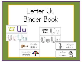 Letter Uu Binder Book
