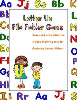 Letter Uu File Folder Game