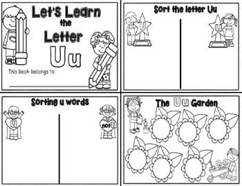 Letter Uu- Interactive Activities Booklet