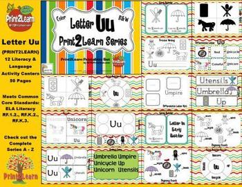 Letter Uu Language & Literacy Activity Center {COMMON CORE ALIGNED}