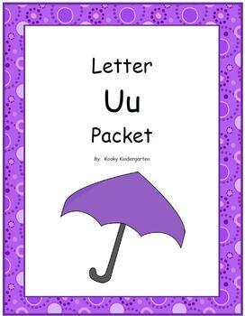 Letter Uu Phonics and Writing Pack