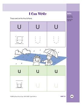 Letter Uu (Umbrella)