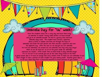 Letter Uu/ Umbrella/ Rainy Day Unit