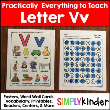Letter V | Alphabet Printables and Centers