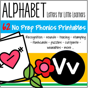 Alphabet V Letter of the Week Phonics Recognition, Sound, Tracing & Craftivities