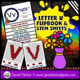 Letter V Alphabet Flip Book (Alphabet Interactive Notebook