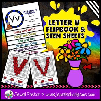 Letter V Alphabet Interactive Notebook Activities Flipbook