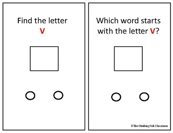 Letter 'V' Adapted Book