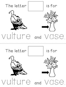 Letter V: Alphabet Activity Book
