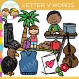 Letter V Clip Art {Alphabet Beginning Sounds Clip Art}
