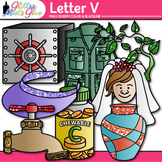 Letter V Alphabet Clip Art | Teach Phonics, Recognition, and Identification