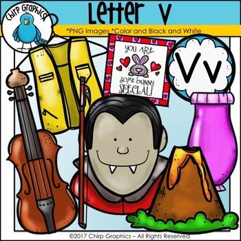 Letter V Alphabet Clip Art Set - Chirp Graphics