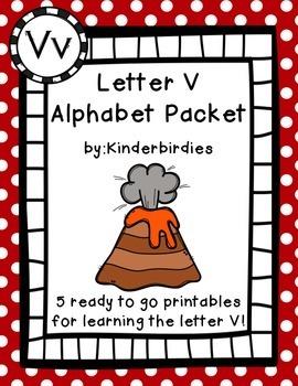 Letter V Alphabet Packet